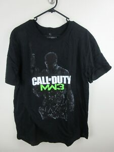 Call Of Duty MW3 Mens T Shirt Size XL Crew Neck Video Game Promo Black Adult