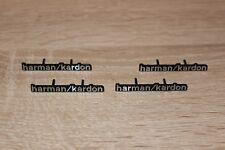 4x Alu Harman-Kardon Emblem Sticker  Lautsprecher 4 Boxen 4 Stück Neu Neu