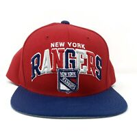 Mitchell & Ness Vintage Hockey NHL New York Rangers Red Blue Snapback Cap Hat