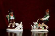 A Pair of Antique Rare  Gerold Porcelain Figurines, Bavaria, Germany