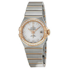 Omega Constellation Mother of Pearl Diamond Dial Ladies Watch 12325272055001