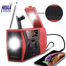 Noaa Weather Radio,Portable Solar Hand Crank Usb