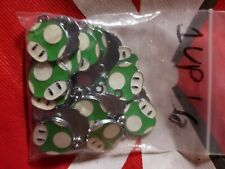 Nintendo 1 Up Charm for bracelets,lanyards, key chains, earrings and so forth