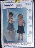 Burda sewing pattern no.9846 Girls skirts & tops sizes 2,3,4,5,6