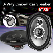 AU 2PC Car Coaxial 1000W Stereo Audio Speakers 3 Way 6 X 9 Marine Subwoofer 12V