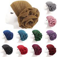 Women Cancer Hat Chemo Cap Muslim Hair Loss Head Scarf Turban Head Wrap Cover HG