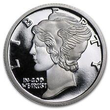 1/10 oncia 999 Moneta d'Argento argento fine Mercury Dime Liberty Lady Alto