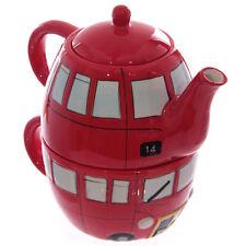 Tea for One Set Doppelstockbus Tasse- und Teekannenset Teekanne London Bus UK