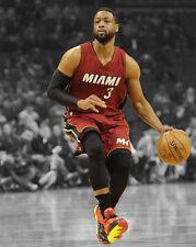 Miami Heat DWYANE WADE Glossy 8x10 Photo Spotlight Basketball Poster Print