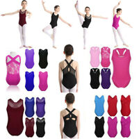 Kid Girl Ballet Gymnastics Dance Leotards Gym Unitard Bodysuit Dancewear Costume