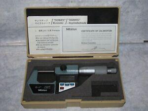 "Superb MITUTOYO 293-761 0-1"" DIGIMATIC MICROMETER .00005"" w/ Original Case Japan"