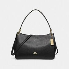 New Authentic Coach F28966 Mia Shoulder Bag Purse Handbag Pebble Leather Black