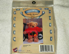 "Holly Beary Teddy Bear Christmas Sweater For 8"" Tall Bear Tender Heart Treasure"