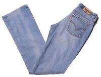 LEVI'S Womens 572 Jeans W26 L31 Blue Cotton Bootcut  LE08
