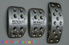 Kit Pedaliere in alluminio con logo Renault Sport Clio IV anno 2013-2019