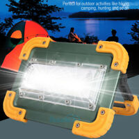 Portable 120000LM COB LED Work Light Rechargeable Emergency Flood Lamp Stand