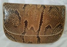 BEAUTIFUL AFRICAN SNAKESKIN PURSE - HANDMADE IN SENEGAL WEST AFRICA.