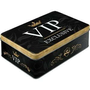 Storage Vip from Metal 9 1/8in Hoard Box Gift Container Baking Containers