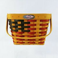 Longaberger 25th Anniversary Collectible Flag Basket with Clear Liner Signed
