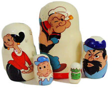 5pcs Hand Painted Russian Nesting Doll of Popeye The Sailor Man
