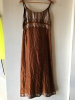 Greek Peasant Vintage Womens Dress Sz M