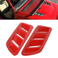 Couvercle d'évent d'aération capot moteur avant rouge pour Jeep Wrangler JL 18+