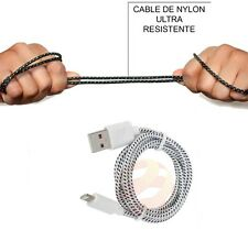 CABLE DATOS APPLE 8 PIN IPHONE,IPAD IPOD TOUCH,NANO NYLON SIN ERRORES.EN COLORES