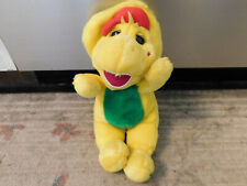 "Vtg 1994 Barney and Friends BJ Plush 13"" Yellow Boy Dinosaur w/ red hat VGUC Toy"