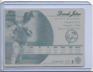 1/1 DEREK JETER 2000 PACIFIC OMEGA PRINTING PLATE CARD #98 NY YANKEES 1 OF 1