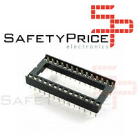 "5x Zocalo integrado 28 PINs DIP 28  Socket doble contacto 0,6 "" (15,24 mm)"