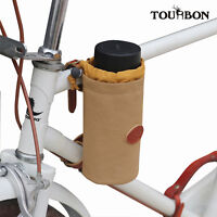 Tourbon Canvas Bike Water Bottle Holder Bicycle Accessories Phone Pouch Wine Bag