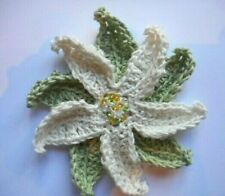 Beautiful crocheted flower -  UNIQUE  (Retina UK) Ivory, Gift, decoration