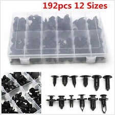 192pcs 12 Sizes Car Body Push Pin Rivet Fastener Assortment Moulding Trim Clips