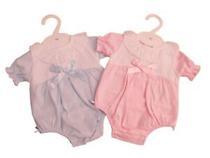 BNWT Baby spanish Romany all in one romper pink or blue NB 0-3 3-6 6-9 9-12 MTH