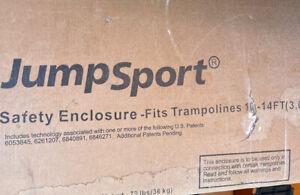 JumpSport 10-14 Foot Trampoline Safety Net Enclosure New (Open Box) Model 480XT