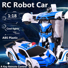 2.4Ghz Kids Transforming Toy Electric RC Robot Deformation Car Toy w/ LED  ~
