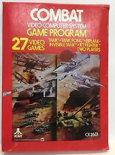 Vintage 1981 Atari COMBAT Video System Game CX2601 ~  Complete in Box