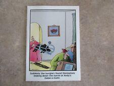 "Vintage ""The FAR SIDE"" 1985 Greeting Card ""Dobie-O-Matic Gun""  NEW"