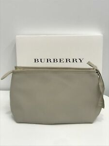 BURBERRY Womens Large STONE / TAN Pouch Makeup Bag - NEW in Burberry Gift Box