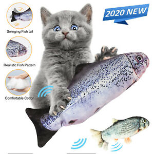 Fish Realistic Cat Toy Electric Moving Catnip Kicker Toys Flopping USB Charging