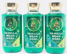 VANILLA BEAN NOEL BATH & BODY WORKS BODY WASH SHOWER GEL 10 FL OZ SHEA SET OF 3