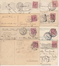 Lot 8 cartes postales timbrées timbres ITALIE ITALIA ITALY 1921 1912 1910 1911