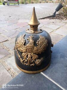WW1 German 1895 Prussian Pickelhaube Relic Somme Battlefield Relic