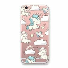 Rainbow Cute Unicorn Clear Soft Silicone Case Cover For iPhone 8 5S 6 6S 7 Plus
