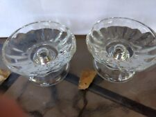 Candle Holders Glass Home Interiors Taper or Pillar Candles set of 2