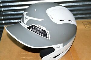 Mizuno Gray White B6 Helmet Baseball Small/Medium