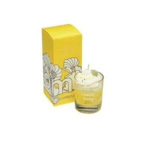 Bomb Cosmetics Lemon drop Piped Glass Candle - BUY ANY 2, SAVE £5. Gift