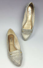 Life Stride shoes 7.5 synthetic silver and gold crocodile loafer flats Comment