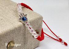 Pulsera Para Protección Con la Mano De Fátima  Handmade Red Bracelet By Ruigos