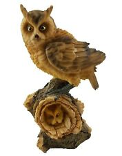Owl Mother with Baby Chick Ornament Statue Figurine Garden Sculpture *19 cm*